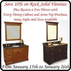 Rock Solid Vanities Sale